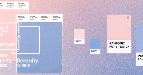 Pantone colours of 2016 – a beautiful blend of Serenity and Rose Quartz!