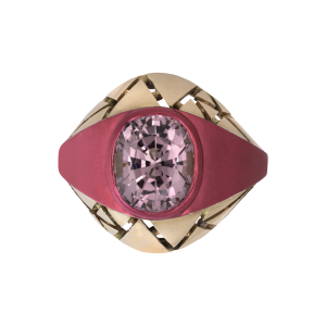 The Rock Hound Lilac Spinel Bombe Ring
