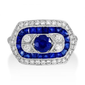Sunshine Exim IJL 2017 Diamond and Sapphire ring