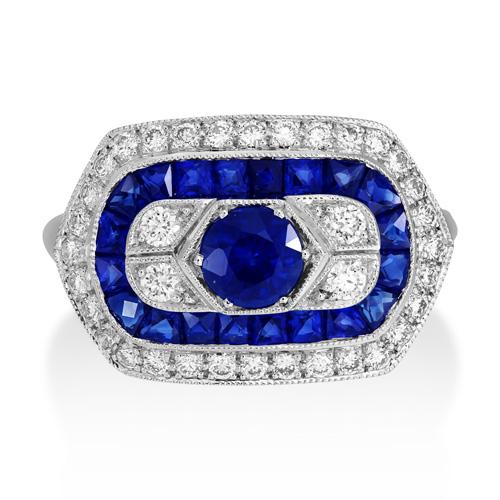 Sunshine Exim IJL 2017 Diamond and Sapphire ring