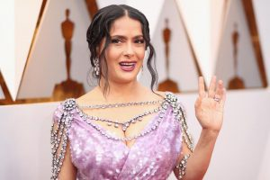 Salma Hayek in Harry Winston (Image Credit: Getty Images)