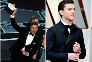 Tom Holland in Piaget Altiplano Skeleton & Oscar Isaac in Piaget Polo S (Image Credit: Getty Images)