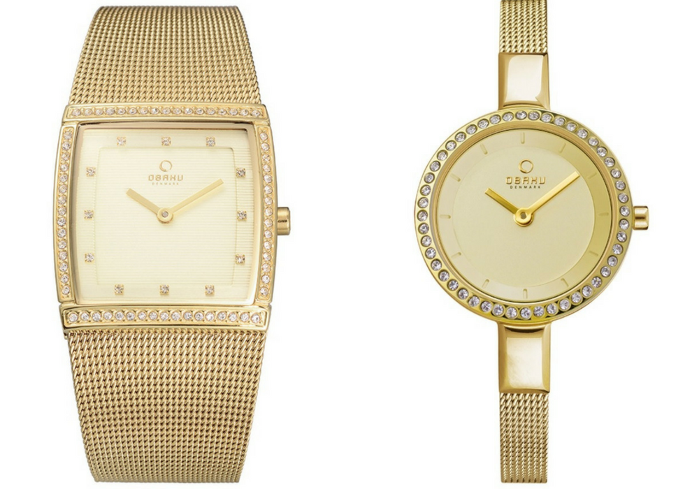 Obaku yellow gold-tone watches