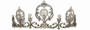 Lot 14 - Diamond tiara, circa 1905