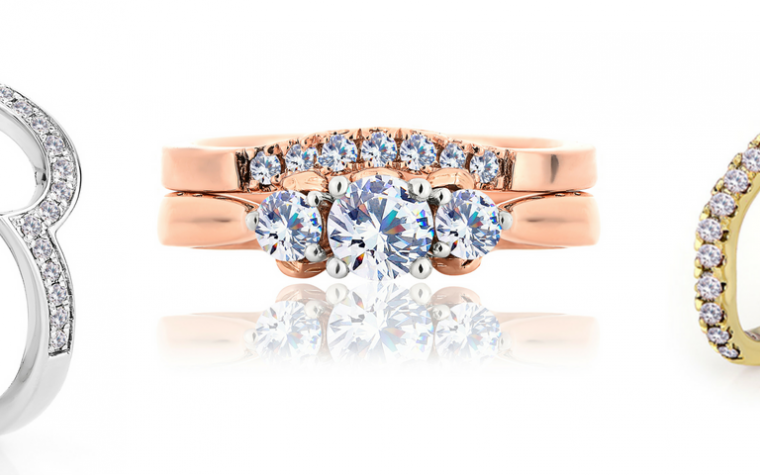 Clogau Compose Header Image Bridal Jewellery Engagement ring trio