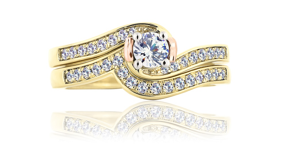 Clogau Compose ring in yellow gold