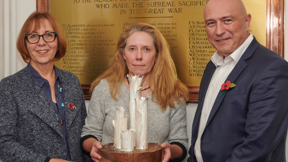 'Silence Fell' Silver commission to mark end of WW1