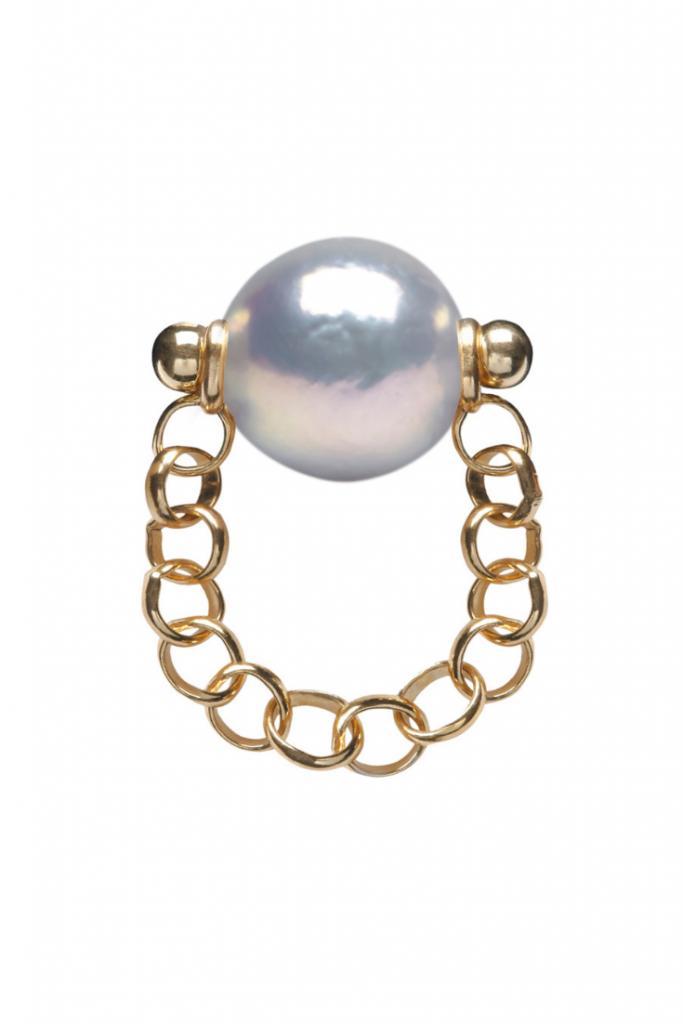 AURIA XXL Grey FW Pearl Ring