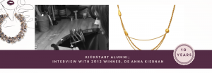 KickStart Alumni: Interview with 2012 Winner, De Anna Kiernan